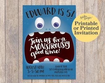 Monster Birthday Invitations, Monster Birthday Party, Monster Party, Little Monster First Birthday Invitations, Printable Monster Invitation