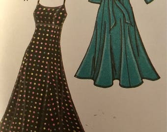Plus Size Dancing Dress & Below Bust Kimono Top Sewing Pattern Size 18 20 22 24 Simplicity 3769 UNCUT