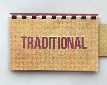 Handmade Burgundy Beige 'Traditional' Blank Recipe book for Your Personal Recipes