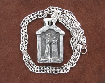 St. Thomas More, Patron of Lawyers, Law Students, Paralegals; Handmade Medal on Chain