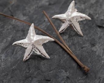 Starfish Earrings, Starfish Post Earrings Star Studs, Sea Star Earrings, Sterling Silver Studs, Star Fish Earrings, Starfish Studs