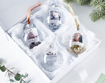 Sequin Personalised Photo Bauble