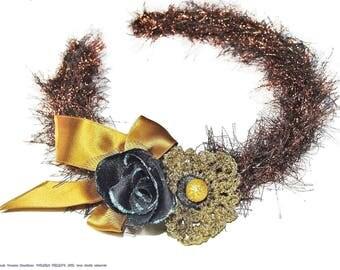 Black and gold headband elegant, chic and refined: headband handmade