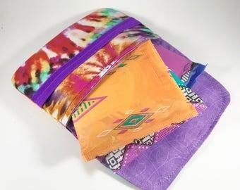 Sanitary Pad Holder, Sanitary Pad Case, Sanitary Pad Wallet Tie Dye