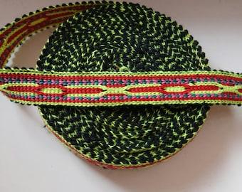 Uzbek handwoven cotton trim Jiyak. Tribal ethnic, boho, hippy trim. NTR057
