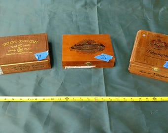 MOVING SALE!!! - 3 used cigar boxes - 21