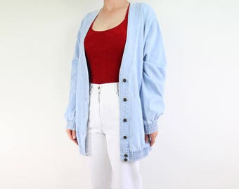 VINTAGE Denim Jacket Light Wash Blue Fade