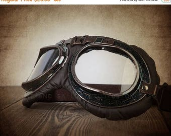 FLASH SALE til MIDNIGHT Vintage Halcyon Style Motorcycle Goggles photo print, Decorating Ideas, Wall Decor, Wall Art,
