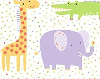 "Muslin-45""- Animal Print Elephant, Purple"
