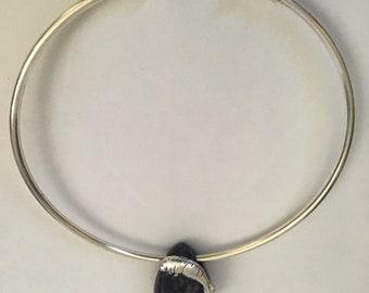 Blue Stone Teardrop Manatee Choker Necklace