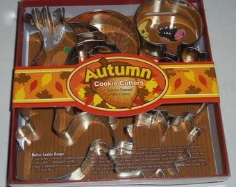 Autumn Cookie Cutter Boxed 7 Piece Set Stainless Steel by FoxRun