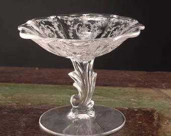 Fostoria Glass, Navarre Pattern, Tall Comport / Footed Candy Dish