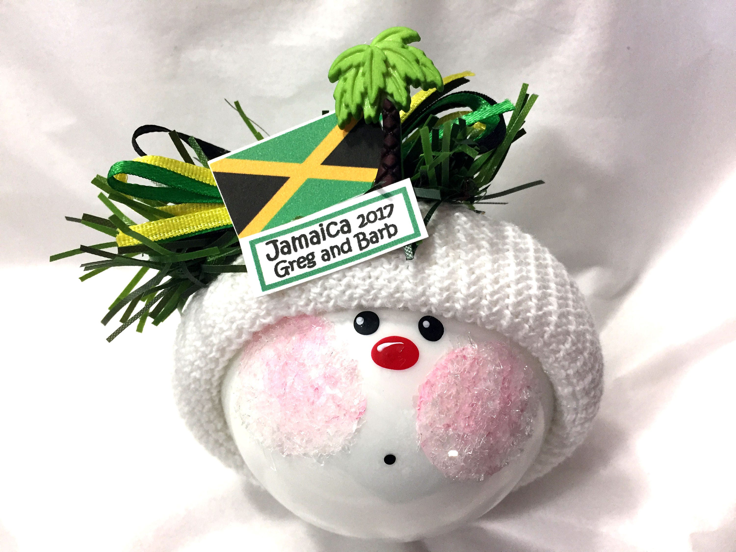 JAMAICA SOUVENIR Christmas Ornaments Jamaican Flag Palm Tree