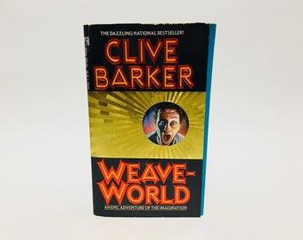 Vintage Fantasy Book Weaveworld by Clive Barker 1988 First Edition Paperback