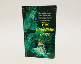 Vintage Gothic Romance Book The Craigshaw Curse by Jean Francis Webb 1970 Paperback