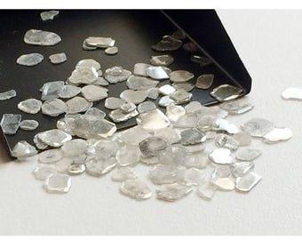 ON SALE 50% WHOLESALE 5 Carats, Diamond Slices, White Diamond Slices, Faceted Diamond, Free Form, Rough Diamond, Raw Diamond, 5mm To 7mm