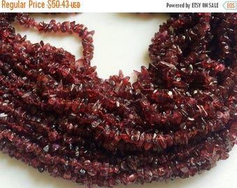 ON SALE 50% WHOLESALE 5 Strands Garnet Chips, Garnet Beads, Natural Garnet Chips, Garnet Necklace, 4-6mm, 32 Inch - Rama70