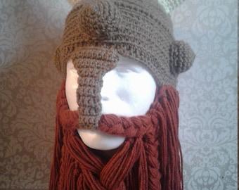 Adult Crochet Viking Hat