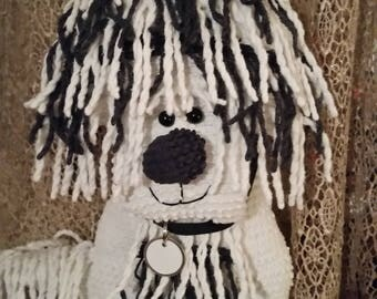 Chenille  pillow Shaggy dog