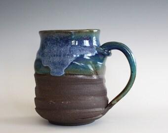 Pottery Mug, 16 oz, unique coffee mug, handmade ceramic cup, handthrown mug, stoneware mug, pottery mug, ceramics and pottery