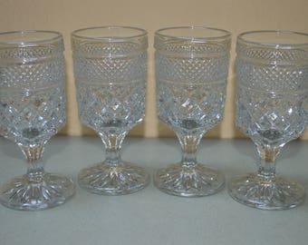 Anchor Hocking  Claret Wexford Wine Glasses-Set of 4