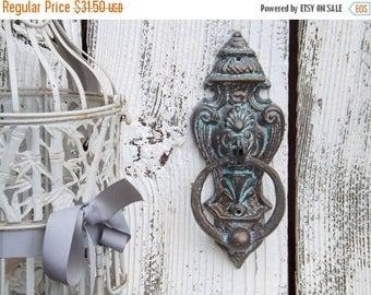 ON SALE Patina Door Knocker / French Cottage / Old World  / Cast Iron Door Knocker