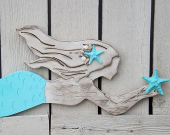 Wooden Mermaid Wall Decor pink mermaid wood mermaid wall artmermaid decormermaid wood