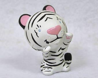 Hand Sculpted White Tiger Derp Figurine