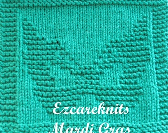 Knitting Cloth Pattern - MARDI GRAS