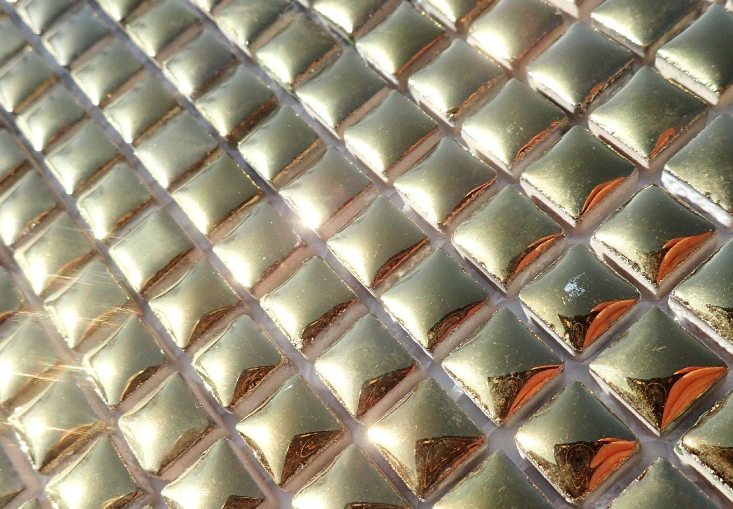 Gold tiny square mosaic tiles 1 cm ceramic half pound in shiny gold tiny square mosaic tiles 1 cm ceramic half pound in shiny mirror finish dailygadgetfo Images