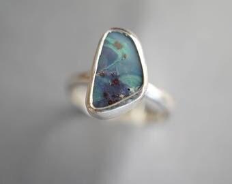 Sweet little Boulder Opal ring