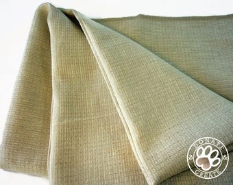 Linen remnants! Linen fabric 1 Yard roll-ends for home decor & light upholstery; Pure linen flax fabric,oatmeal color striped weave pattern;