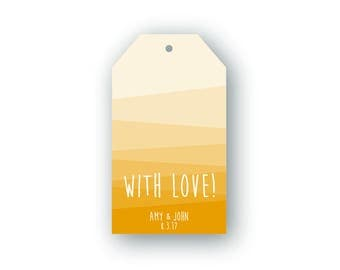 Printable Custom Wedding Favor Tags - Digital Download, Bright, Colorful, Color, Gradient, Summer, With Love, Celebrate, Thank You, Guests