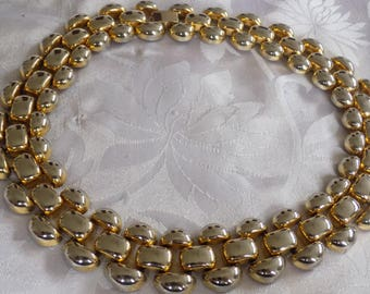 """Vintage necklace, """"Golden Stepping stones"""" choker necklace, classic elegance, retro jewelry"""