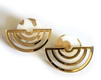 CONIC Well Rounded Statement Earrings, Drop Earrings, Gold, Dangle Earrings, Marble Earrings, Modern Earrings, Minimalist