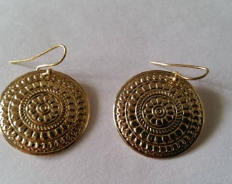 Gold Vintage Earrings Nickel Free Rue23Paris Collectible Jewelry