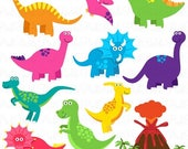 CIJ SALE Dinosaur Clipart, Dinosaur Clip Art, Great for a Dinosaur Invitation, Dinosaur Birthday or Dinosaur Party - Commercial and Personal