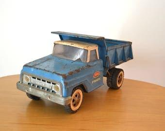 Vintage Blue Tonka Hydraulic Dump Truck