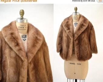 SALE Vintage Mink Fur Stole Cape Honey Brown Vintage Fur Stole Cape// Vintage Fur Cape in Brown Mink Winter Wedding