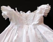 Heirloom Antique Ayrshire Christening Gown Handmade with Embroidery