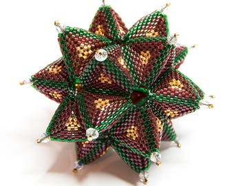 Beading Pattern Tutorial Christmas Ornament Secret Star