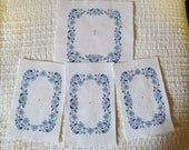 RESERVED for Randy - Delft Blue Floral Light Switch Pieces