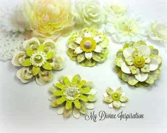 Basic Grey Life of the Party Paper Embellishments, Paper Flowers for Scrapbook Layouts Cards Planners Journals Mini Albums Tags Paper crafts