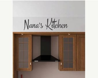 20% OFF Personalized kitchen decal- Vinyl Lettering wall words quotes graphics decals Art Home decor itswritteninvinyl