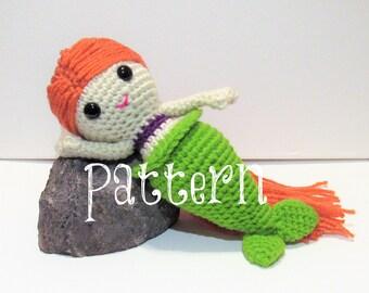 Crochet Mermaid Pattern, Cute Crochet Mermaid Doll, Mermaid Doll, Crochet Pattern, Little Mermaid Doll, Crochet Mermaid Toy, Toy Mermaid