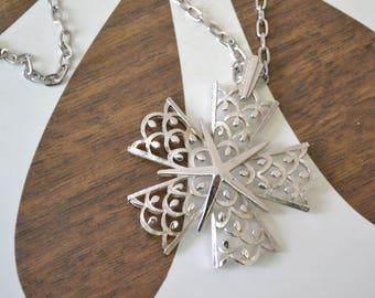 1960s Trifari Silver Pendant and Chain