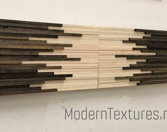 Wood Wall Art - Wall Art Sculpture - 12x36 set (2pcs) - Headboard