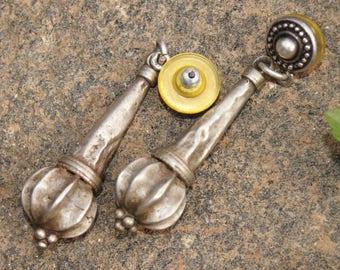 Afghan Desert Silver Tribal Earrings
