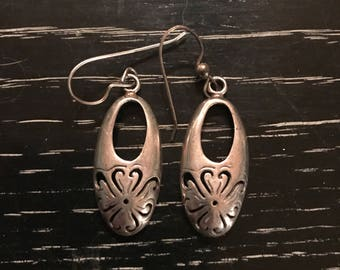 Vintage Sterling Silver Earrings. Vintage Silver Earrings. Earrings. Sterling Dangle Earrings