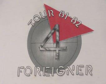Vintage FOREIGNER 1981-82 tour T SHIRT original concert jersey